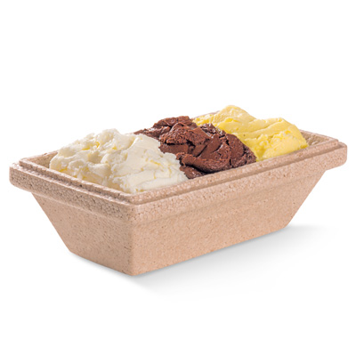Brown ice cream tray